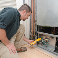 Professional HVAC technician