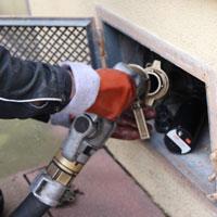 Heating oil filling